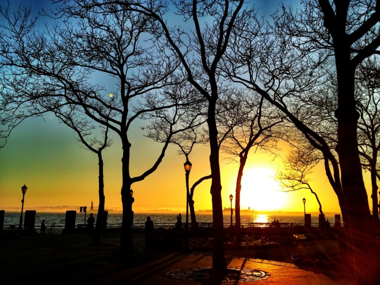 Sunset in Battery Park