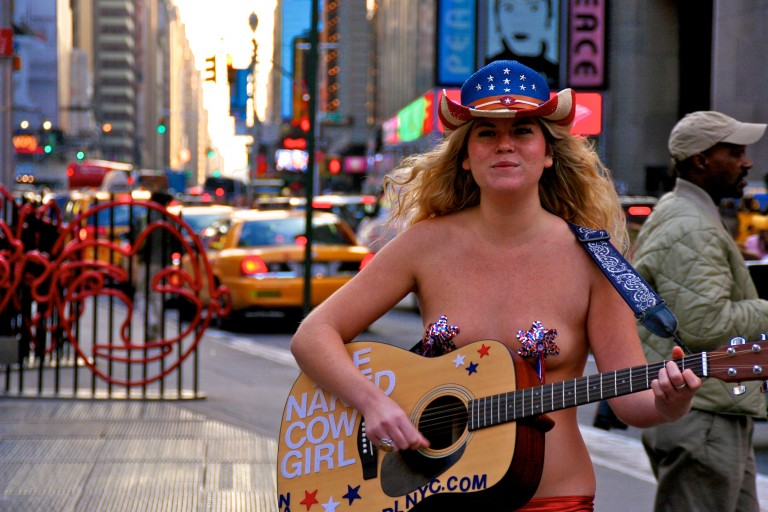 Naked Cowgirl at Times Square