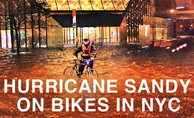 Hurricane Sandy on Bikes in NYC